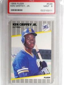 1989 Fleer Ken Griffey Jr. Rookie RC #548 PSA 9 MINT *60763