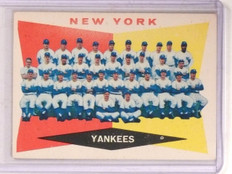 1960 Topps Yankees Team Checklist #332 VG-EX Marked *67408