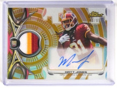 2015 Topps Finest Gold Refractor Matt Jones autograph 3clr patch rc #D41/99 *518