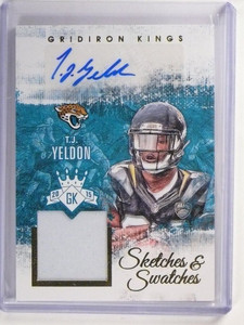 2015 Gridiron Kings Sketches T.J. Yeldon autograph auto jersey rc #D42/49 *51863