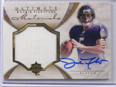 2008 Ultimate Collection Joe Flacco auto autograph rc rookie jersey #D02/99  *39