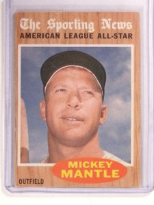1962 Topps Mickey Mantle AS All-Star Mickey Mantle #471 VG-EX *67369