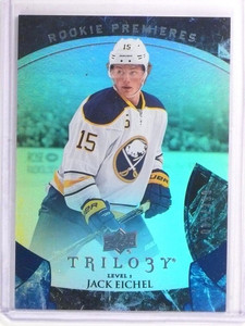 15-16 Upper Deck Trilogy Blue Jack Eichel rc rookie #D35/399 #133 *53555