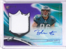2013 Topps Platinum Purple Zach Ertz autograph auto patch rc #D02/10 *50599