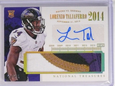 2014 National Treasures Lorenzo Taliaferro autograph 3clr patch rc #D20/25 *5030