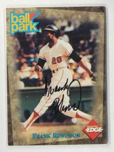 1995 Collector's Edge Ballpark Frank Robinson auto autograph *41126