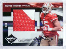 2009 Limited Michael Crabtree autograph auto patch rc rookie #D14/25 #18 *48372