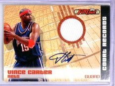 2006-07 Topps Full Court Vince Carter Records Jersey Autograph #D03/50 #CA6 *568