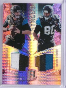 2016 Panini Spectra Synced Pink Thomas Bortles Dual Patch #D05/10 #13 *65306