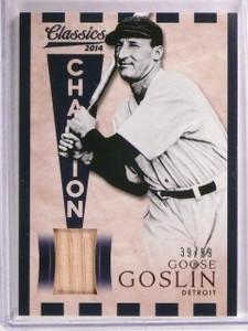 2014 Panini Classics Champions Goose Goslin bat #D39/99 #9 *67567