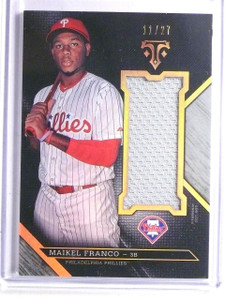 2016 Topps Triple Threads Unity Maikel Franco Jersey #D11/27 #UJRMFR *66239