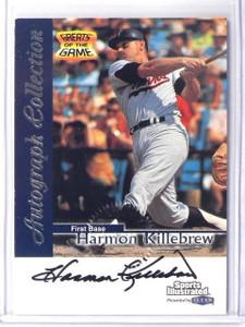 1999 Fleer Sports Illustrated Greats Harmon Killebrew auto autograph *41017