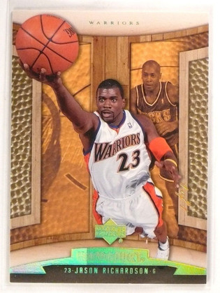 2006-07 Upper Deck Hardcourt Jason Richardson Gold #d1/1 1of1 #33 *55382