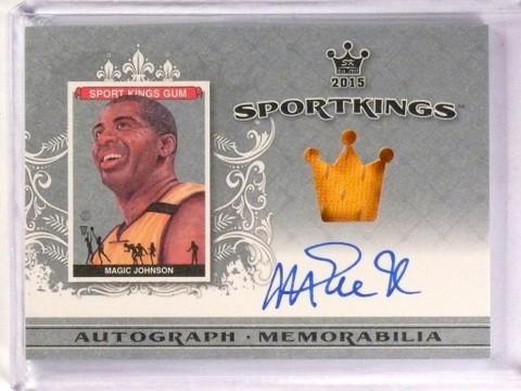 2015 Leaf Sport Kings Sportkings Magic Johnson autograph auto jersey *53416