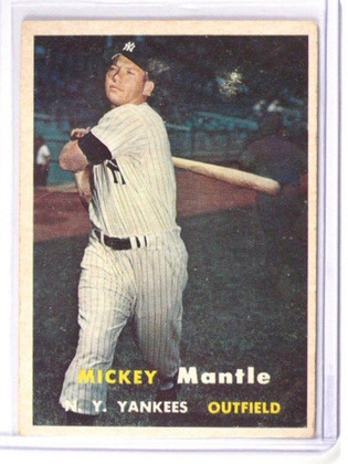 1957 Topps Mickey Mantle #95 VG *38692