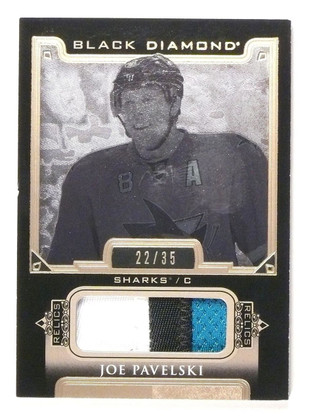 2015-16 Black Diamond Joe Pavelski Jersey Patch Prime #D22/35 #BDBJP *53198