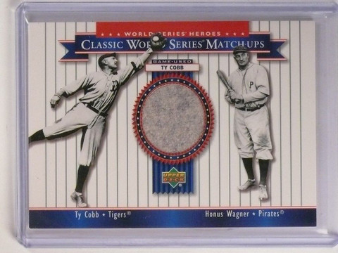 2002 Upper Deck Heroes World Series Matchups Ty Cobb pants #MU09 *51703