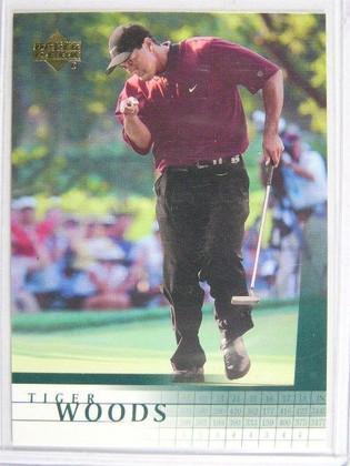 2001 Upper Deck Tiger Woods rc rookie #1 *19980
