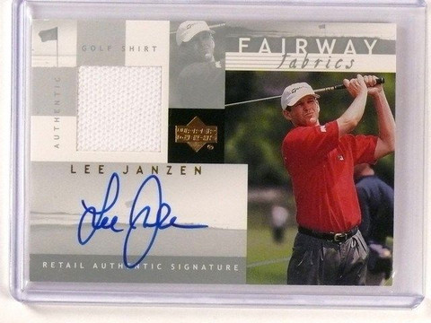 2002 Upper Deck Golf Lee Janzen Shirt Autograph Auto Fairway LJ-AFF *45900
