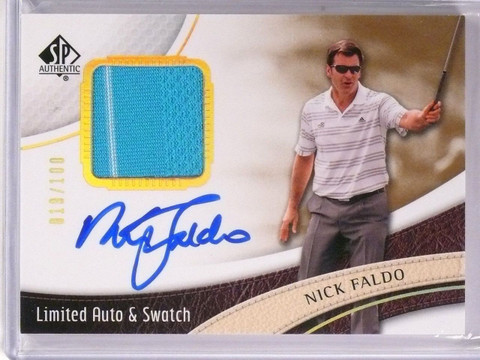 SOLD 2625 2014 SP Authentic Golf Nick Faldo Shirt Autograph Limited #D019/100 #19 *54547