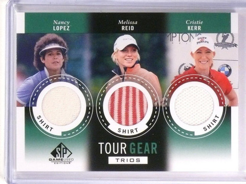 2014 SP Game Used Golf Tour Gear Trios Lopez Reid Cristie Kerr Shirt *53818