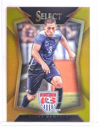 2015 Panini Select Soccer Gold Prizm Clint Dempsey #D07/10 #19 USA *53509