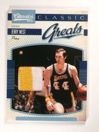 09-10 Panini Classics Greats Prime Jerry West 2clr patch #D22/25 #14 *46190
