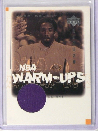 01-02 Upper Deck Encore NBA Warm-Ups Kobe Bryant warmup jersey #KB-W *38882
