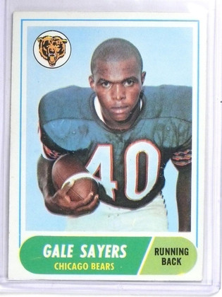 SOLD 6621 1968 Topps Gale Sayers #75 EX *60681