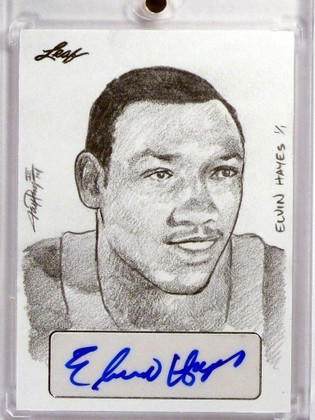 SOLD 13657 2015 Leaf Sports Masterworks Elvin Hayes autograph auto sketch 1/1 *48362