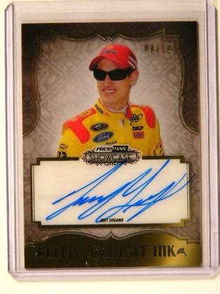 2013 Press Pass Showcase Exhibit Ink Joey Logano auto autograph #D09/10 *41281