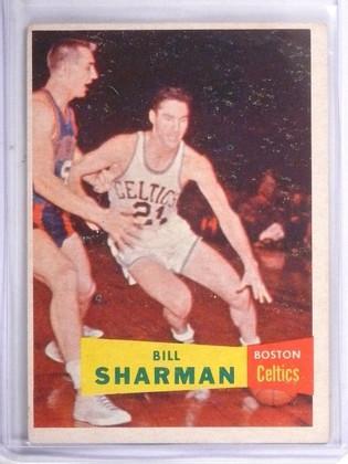 SOLD 10368 1957-58 Topps Bill Sharman Rookie RC #5 VG-EX *57545