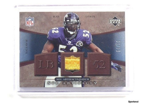 2007 Upper Deck Artifacts Ray Lewis 2clr patch #D34/50 #NFL-RL *43653