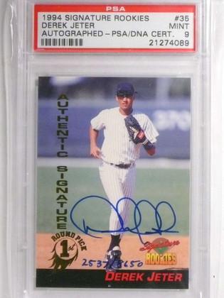 DELETE 14185 1994 Signature Rookies Derek Jeter autograph auto #D2537/8650 PSA 9 *67609