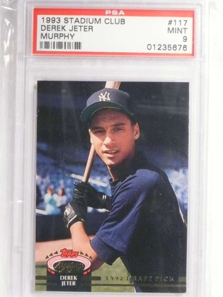 DELETE 14187 1993 Stadium Club Murphy Derek Jeter rc rookie #117 PSA 9 MINT *67611