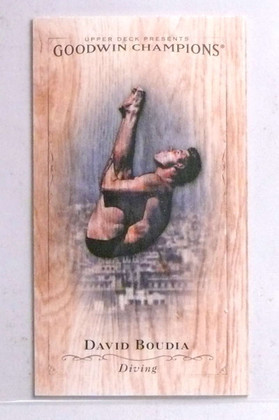 2016 Upper Deck Goodwin Champions Wood Lumberjack David Boudia #D1/8 *67747