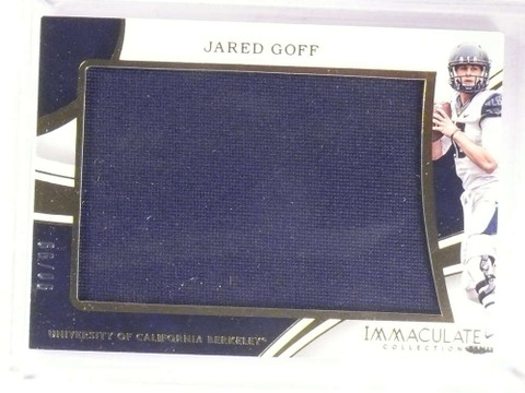 2016 Panini Immaculate Collection Jared Goff rookie jersey #D90/99 *67932