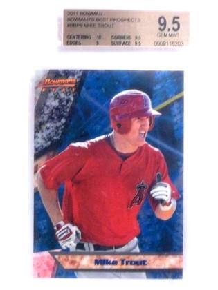 2011 Bowman's Best Prospects Mike Trout rc rookie #BBP9 BGS 9.5 GEM MINT *68001