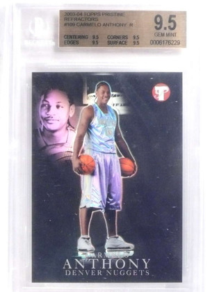 SOLD 14581 2003-04 Topps Pristine Refractor Carmelo Anthony rc rookie #D/149 BGS 9.5 *68017