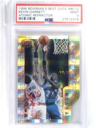 SOLD 14588 1996-97 Bowman's Best Cuts Atomic Refractor #BC12 Kevin Garnett PSA 9 *68024