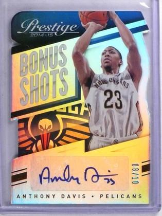DELETE 14603 2014-15 Prestige Bonus Shots Anthony Davis autograph auto #D08/10 #66 *68039