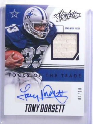 2014 Panini Absolute Tools Of Trade Tony Dorsett autograph jersey #D04/10 *68130