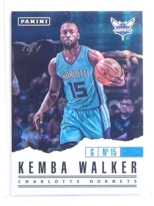 SOLD 14706 2017 Panini Father's Day Hyperplaid Kemba Walker #D 1/1  *68144