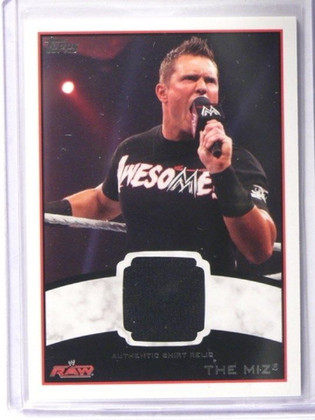 2012 Topps WWE The Miz authentic Shirt Relic *36318