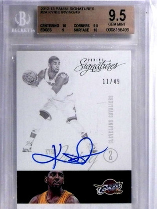 SOLD 14945 2012-13 Panini Signatures Kyrie Irving autograph auto rc #D11/49 BGS 9.5 *68328