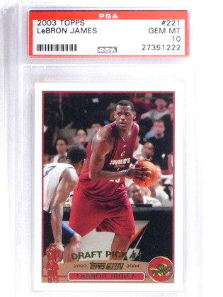 SOLD 14950 2003-04 Topps Collection Lebron James rc rookie #221 PSA 10 GEM MINT *68330