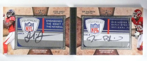 2011 Topps Five Star Julio Jones Baldwin Dual tag autograph patch rc #4/4 *68366