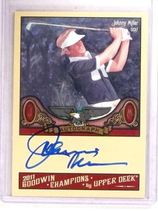 2001 Upper Deck Goodwin Champions Johnny Miller autograph auto *68504