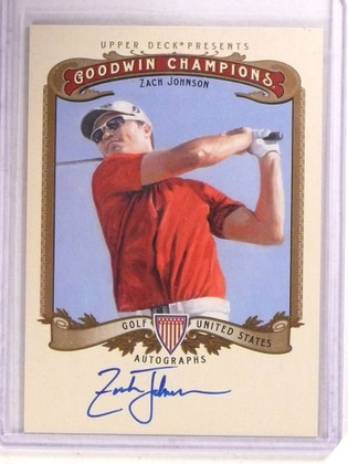 SOLD 15069 2012 Upper Goodwin Champions Zach Johnson autogrpah auto #A-ZJ *68506