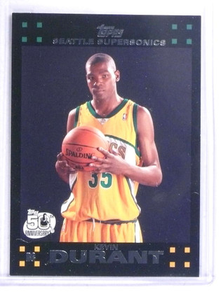 2007-08 Topps Kevin Durant rc rookie #112 *68801